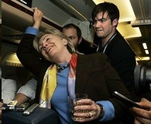 Drunk or Sick, the She-Thing Hildabeast Needs Help Walking!
