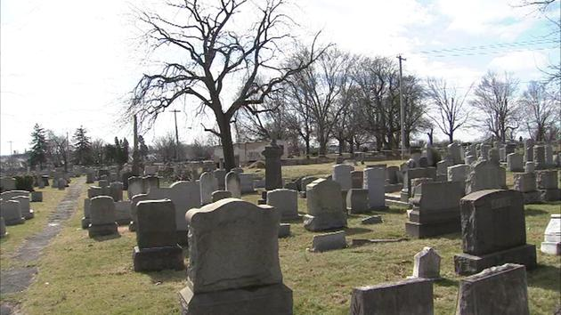 Philadelphia Jewish Cemetery Headstones damaged by a Bunch of Heathens