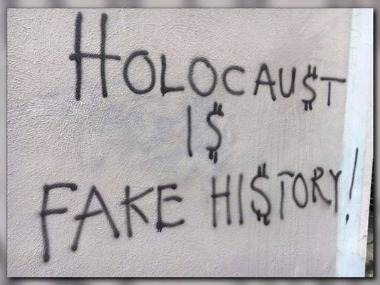Hate Graffiti Claims the Holocaust is Fake?!