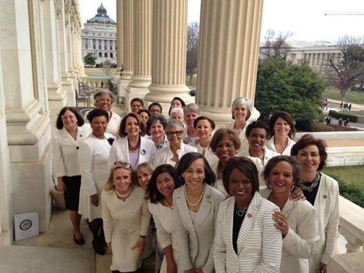 Jackass Pelosi and House Democrats Wear White To Protest Trump In Address To Congress