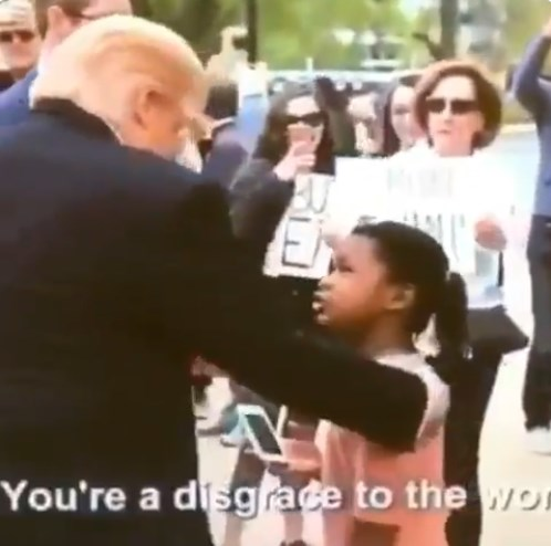 Idiots Believe Fake News: Little Girl Calls Trump a Disgrace