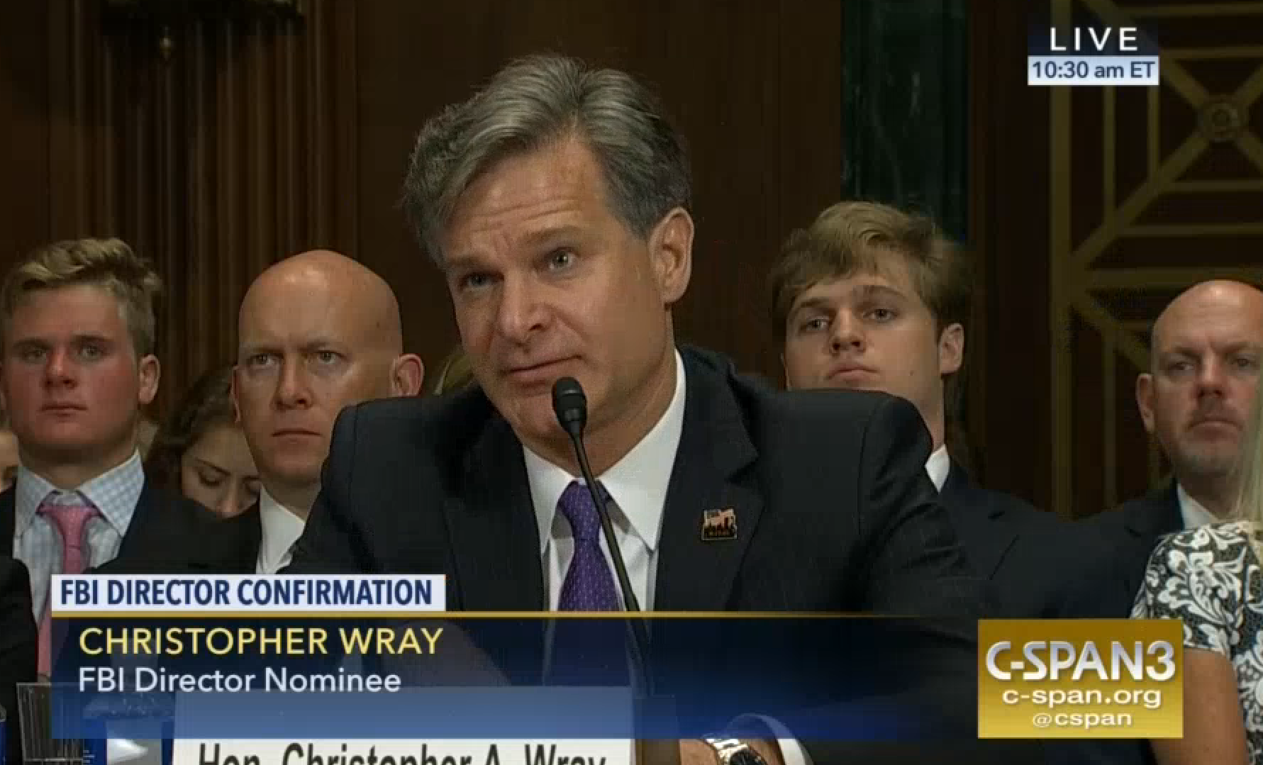 Wray Testifies & Promises Independent FBI