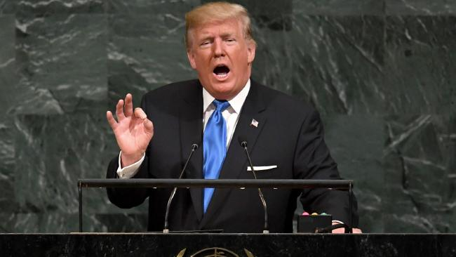 President Trump Blast Iran Nuclear Deal While Speaking At U.N. General Assembly