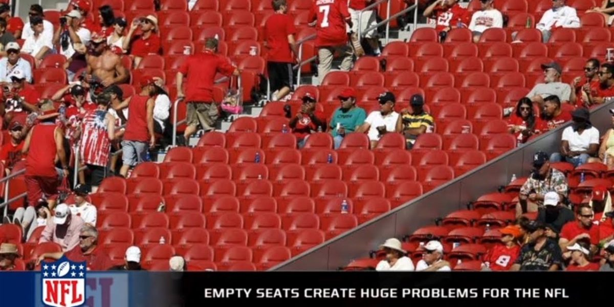In Week 11 The Fans Of The NFL Football Leaving Empty Seats In Stadiums Everywhere