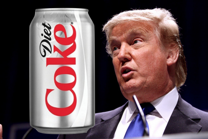 Liberal Media Attacking Trump For Drinking 12 Diet Cokes A Day