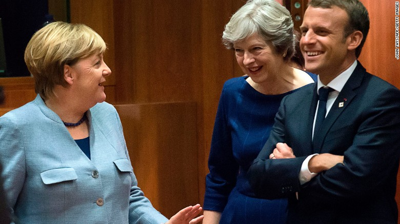 Angela Merkel Mocked Theresa May Brexit Negotiations at Secret Davos Briefing