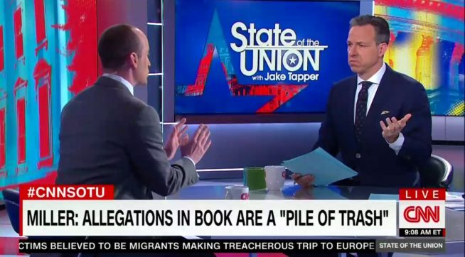 Stephen Miller Takes Down CNN's Tapper And Steven Bannon