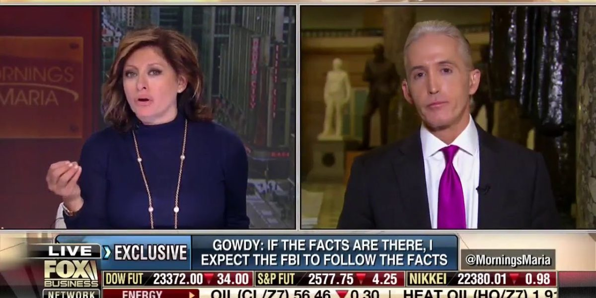 Trey Gowdy Talks about all of the FBI, DOJ, and Government Corruption