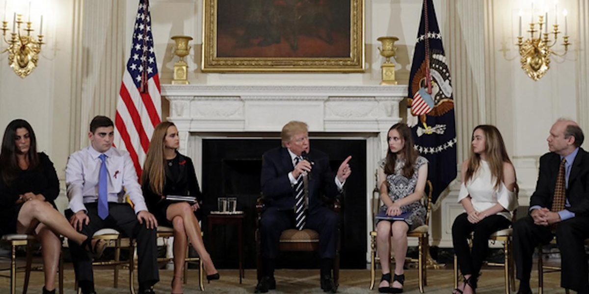 Now President Trump  Says Arm Teachers At School To End Attacks