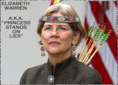 Pocahontas Elizabeth (Shitting Bull) Warren Refuses To Take A DNA Test To Prove She Is Native American