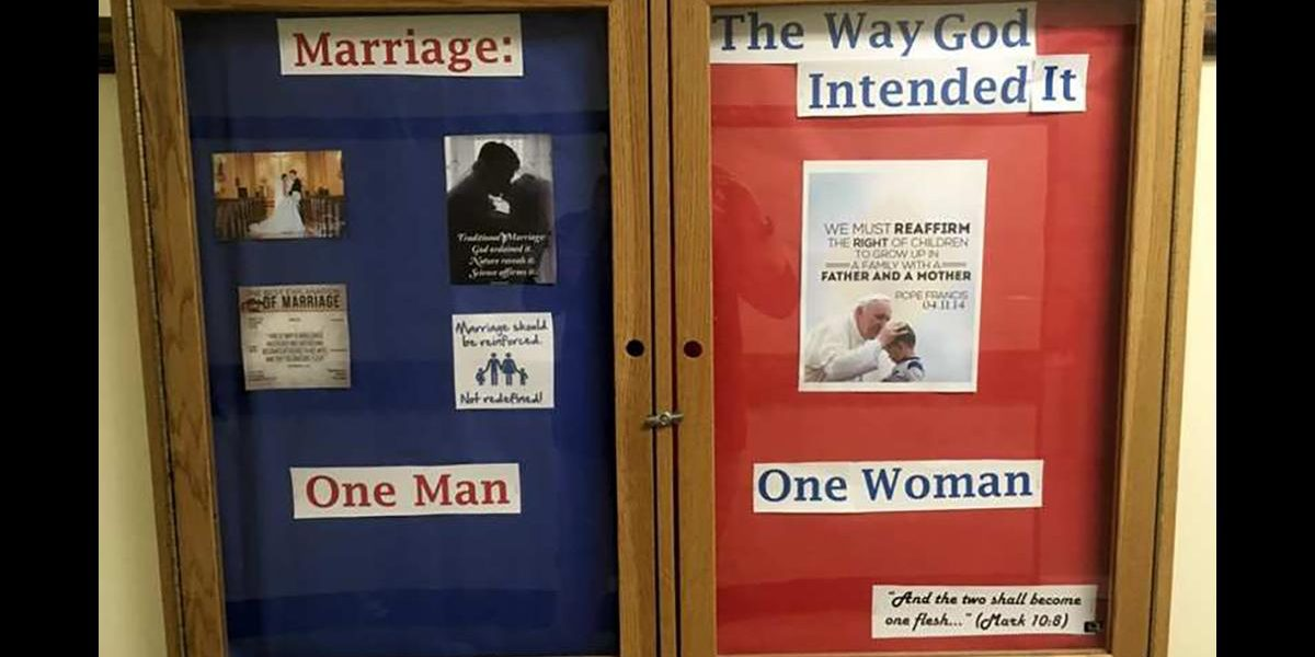 Fags Threaten To Rape A Student Because He Believes In Traditional Marriage