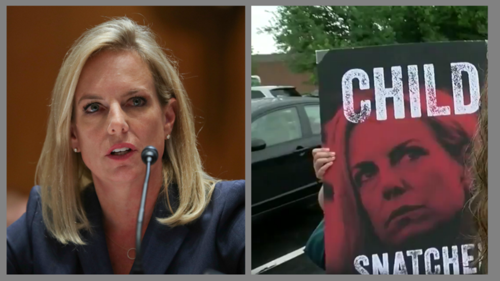 Vile Leftist Go To  Secretary Kirstjen Nielsen's Home To Protest