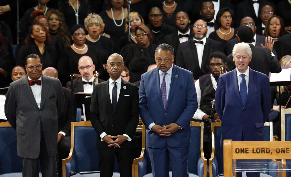 Aretha Franklin's Funeral Was Made A Joke By Liberals ! Sharpton, Dyson, Jackson, Clinton's, And Farrakhan.