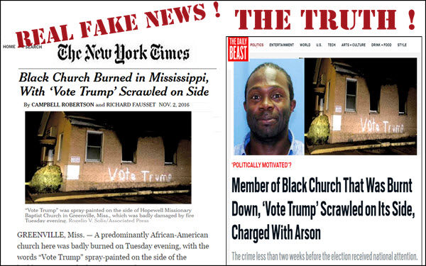 Lying Liberal Hoax And Fake Hate Crimes That The Left Promoted