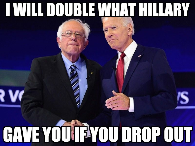 Communist Bernie Sanders Drops Out Of Presidential Race. He Took The Money!