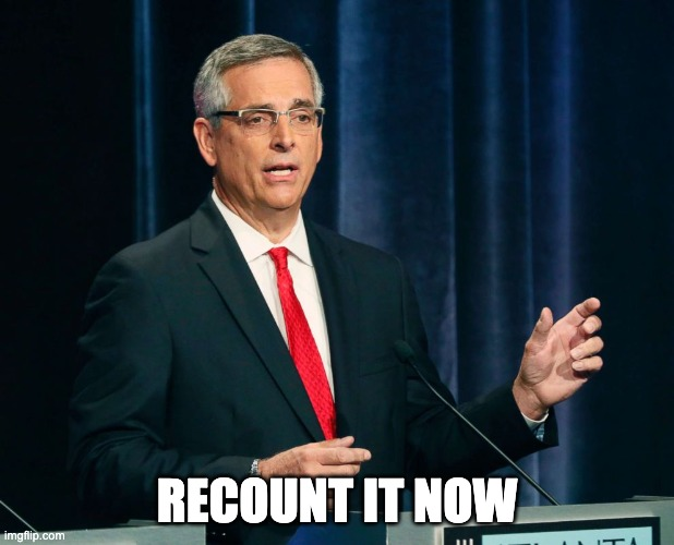 The Georgia Secretary of State Says 'There Will Be a Recount'