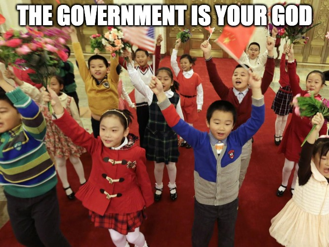 America Is Like China Forcing The Children To Worship The Government