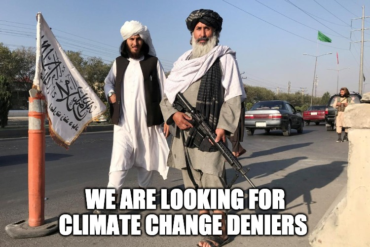 The Taliban Are Now Fighting Climate Change