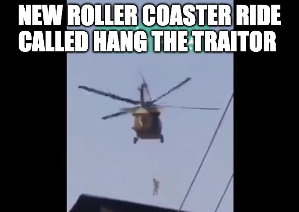 """Taliban Hangs """"Traitor"""" by the Throat From Black Hawk Helicopters"""